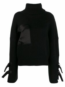 David Koma roll-neck sweater - Black