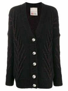 Marco De Vincenzo embroidered cardigan - Black