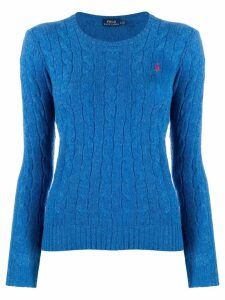 Polo Ralph Lauren logo knitted sweater - Blue