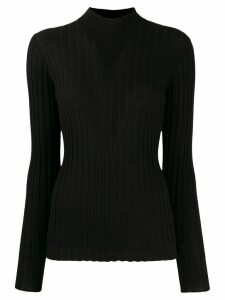 Bottega Veneta mock neck ribbed jumper - Black