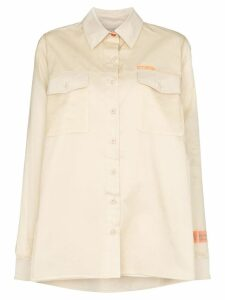 Heron Preston double-layer side-slit shirt - NEUTRALS