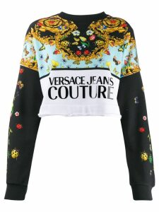 Versace Jeans Couture contrast print sweater - Black