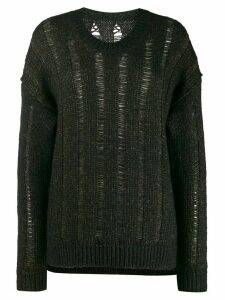 Uma Wang loose knit cardigan - Black