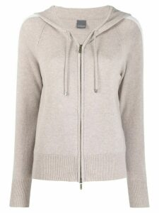 Lorena Antoniazzi knit zipped hoodie - Grey