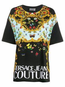 Versace Jeans Couture contrast print t-shirt - Black