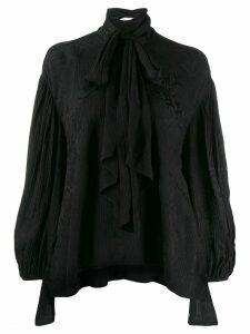 Chloé asymmetric bow tie blouse - Black