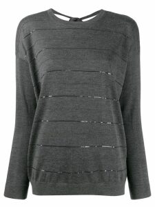 Brunello Cucinelli striped jumper - Grey