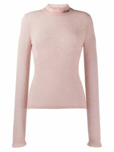 Philosophy Di Lorenzo Serafini textured round neck sweater - PINK