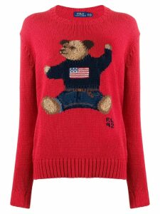 Polo Ralph Lauren teddybear knitted jumper - Red
