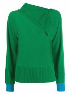 Cédric Charlier foldover neck jumper - Green