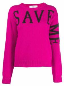 Alberta Ferretti 'Save Me' jumper - PINK
