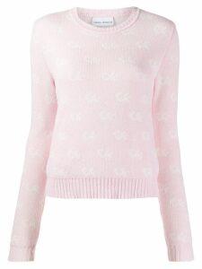 Chiara Ferragni logo knit sweater - Pink