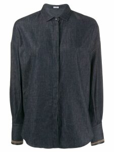 Brunello Cucinelli long-sleeve fitted shirt - Blue