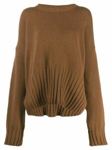 P.A.R.O.S.H. oversized knitted jumper - Brown