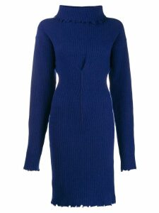 UNRAVEL PROJECT roll neck knitted dress - Blue