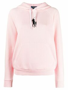 Polo Ralph Lauren logo embroidered hoodie - PINK
