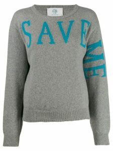 Alberta Ferretti 'Save Me' sweatshirt - Grey
