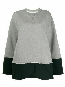 Mm6 Maison Margiela hybrid sweatshirt pinstripe blazer - Grey