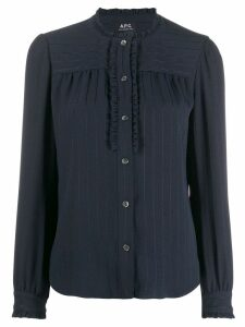 A.P.C. striped blouse - Blue