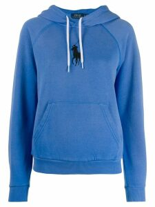 Polo Ralph Lauren logo embroidered hoodie - Blue