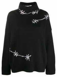 Ermanno Scervino barbed wire knitted sweatshirt - Black