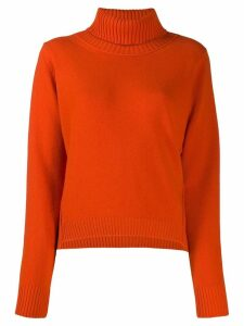 Dorothee Schumacher knitted roll neck jumper - ORANGE