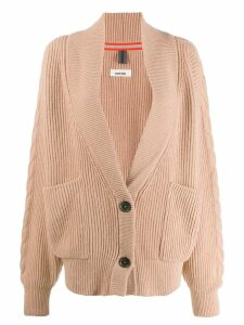 Circus Hotel oversized knitted cardigan - Neutrals