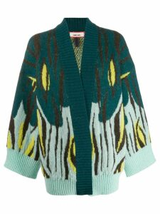 Circus Hotel poncho-style cardigan - Blue