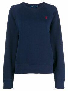Polo Ralph Lauren logo embroidered sweatshirt - Blue