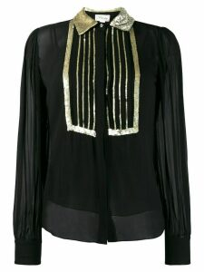 Temperley London sequin embroidered blouse - Black