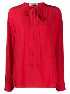 Valentino micro jacquard logo blouse - Red