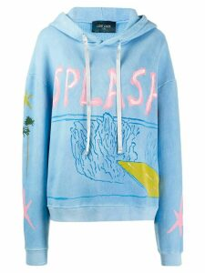 Lost Daze Splash Cloud Dye hoodie - Blue