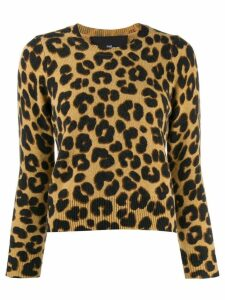 Marc Jacobs leopard knitted top - Black