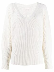 See By Chloé oversized ribbed jumper - White