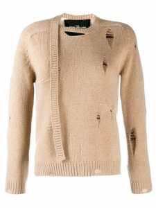 Marc Jacobs Worn Torn knitted jumper - NEUTRALS