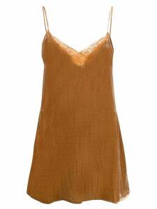 Mes Demoiselles long camisole top - Brown