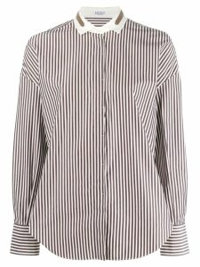 Brunello Cucinelli striped shirt - Blue