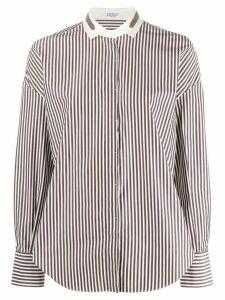 Brunello Cucinelli striped shirt - Blue