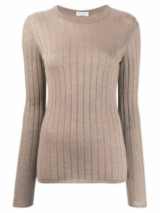 Brunello Cucinelli long-sleeve fitted sweater - Neutrals