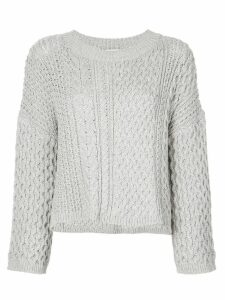 Jason Wu long sleeve knitted top - Grey