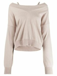 Maison Margiela off-shoulder jumper - NEUTRALS