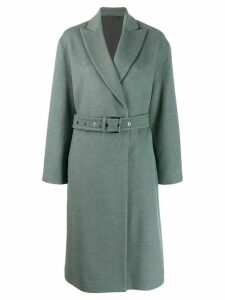 Brunello Cucinelli belted cardigan coat - Green