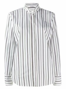 Brunello Cucinelli pinstripe tailored shirt - White