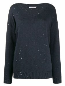 Brunello Cucinelli sequinned jumper - Blue