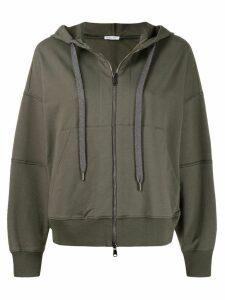 Brunello Cucinelli jersey track jacket - Green