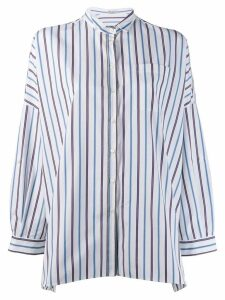 Brunello Cucinelli striped oversized shirt - White