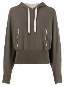 Brunello Cucinelli ribbed waist hoodie - Green