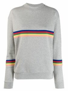 Être Cécile Rainbow stripe sweatshirt - Grey