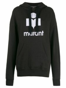 Isabel Marant Étoile logo print drawstring hoodie - Black
