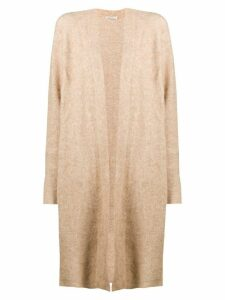 Mes Demoiselles relaxed long cardigan - Brown